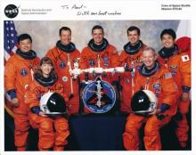 CREW OF THE SPACE SHUTTLE MISSION STS-92 SIGNED PHOTO