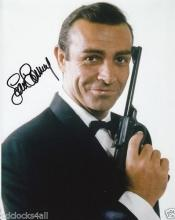 SEAN CONNERY 007 SIGNED 8 X 10 PHOTOGRAPH