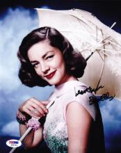 LAUREN BACALL SIGNED 8 X 10 PHOTOGRAPH