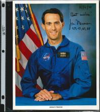 JIM H. NEWMAN SIGNED 8 X 10 NASA PHOTOGRAPH