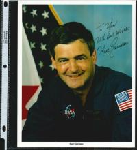 MARC GARNEAU SIGNED 8 X 10 NASA PHOTOGRAPH