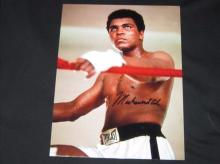 RARE MUHAMMED ALI AUTHENTIC SIGNED 8 X 10 PHOTOGRAPH.