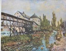 ALFRED SISLEY, THE COVERED BRIDGE (RARE)