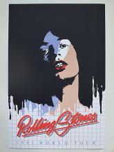 THE ROLLING STONES 1981 WORLD TOUR POSTER supr rar