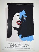THE ROLLING STONES 1979 WORLD TOUR SERIGRAPH super rare