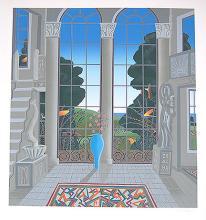 MCKNIGHT-  BLUE VASE AND WINDOW