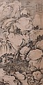 Chinese Scroll Painting, signed Zhu Ang (925-1007), Qing Dynasty