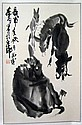 Chinese Scroll Painting, Signed Huang Zhou (1925-1997)