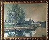 IHLY Jean Daniel (1854-1910).  Barque sur un cours d'eau, Daniel Ihly, CHF500