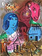 CHAGALL Marc (1887-1985).  XXe Siècle -  Hommage à Marc Chagall