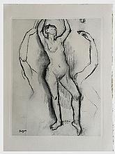 DEGAS Edgar (1834-1917).  Etude de danseuse