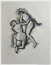 DEGAS Edgar (1834-1917).  Deux danseuses de dos
