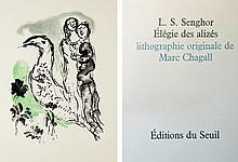 CHAGALL Marc (1887-1985) / L.S. SENGHOR.  Elégie des Alizés