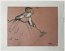 DEGAS Edgar (1834-1917).  Danseuse exécutant un pas