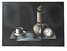 AVATI Mario (1921-2009).  Le Café du Petit Matin