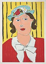 DERAIN André (1880-1954).  Femme au chapeau bleu