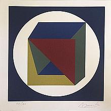 DUARTE Angel (1930-2007).  Composition Cercle et cube