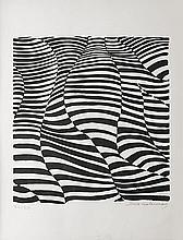 DELAUNAY-TERK Sonia (1885-1979).  Composition «Zébrures»