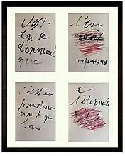DEGOTTEX Jean (1918-1988).  «C'est en se donnant que l'on reçoit. C'est en pardonnant que l'on a l'Eternelle Vie»