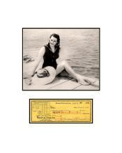 Maureen O'Hara Dock with Check