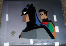 Batman Robin Production Cel with Original Background
