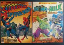 Comic book lot, Dc & Marvel present: Superman & spiderman #28, Batman Vs. Hulk #27