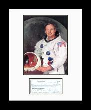 Neil Armstrong with Check