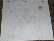 Batman Production Drawing signed Kevin Conroy