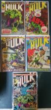 Silver age comics: Incredible Hulk  #105,134,146,154,191,