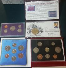 Commemorative coins and first day issue lot