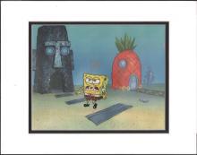 SpongeBob SquarePantsoriginal production cel from Nickelodeon of SPONGEBOB