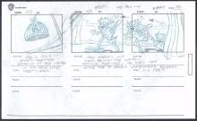 TAZMANIA by Warner Brothers, Hand-drawn, Original Production Animation Storyboard