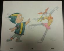 Original art, Virgil Ross Color pencil drawing: