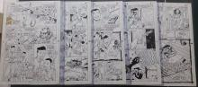 Original comic art: lot of 6 (5 Ink +1 Pencil) Steel, the indestructible man