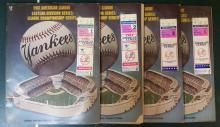 4X 1981 Eastern Division Championship/League Championship Programs with tickets