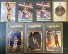 Mixed lot of 7 Basketball cards