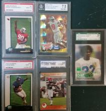 mixed lot of 5 graded football cards