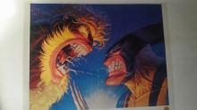 Animation art: Sabertooth VS. Wolverine Litho on Acetate