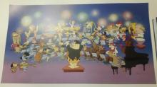 Animation art: An Orchestra of Stars L.E.Hanna-Barbera Litho