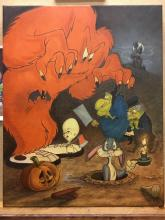 Animation art: The Monsters Are Hare! Hand Signed by Mike Kupka
