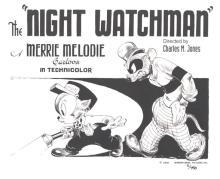 Animation art: The Night Watchman