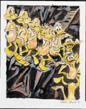Animation art: Nude Duck Descending a Staircase