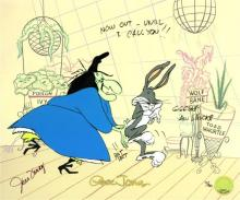 Animation art: Bewitched Bunny 1954 A Golden Age Edition, Hand-signed by June Foray