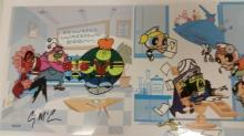 Animation Art: Power Puff Girls Cel, H.P. with studio seal #45/50, signed.