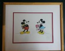Animation art - Disney's Poppy love- Sweathearts Mickey & Minnie sericl