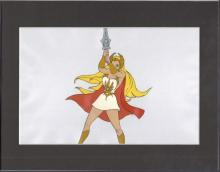 SHE-RA PRINCESS OF POWER Original production animation cel and matching drawing of SHE-RA and her Sword of Protection