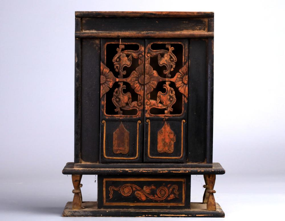 gold gilt wooden Buddha niche - Cabinets, Armoires & Cupboards For Sale At Online Auction Modern