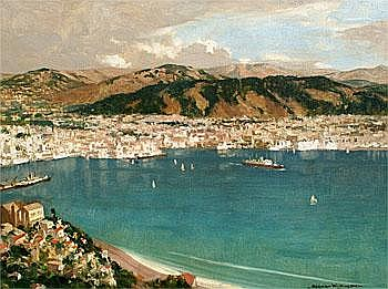 Norman Wilkinson 1878 - 1971 - Wellington Oil on