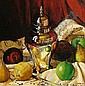 The Urn Still Life-Michael Blow Oil on board 38 x 38 Signed-circa 1981