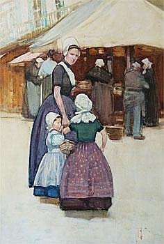 Art Work by: Frances Hodgkins . Market Scene,